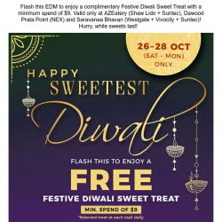 [BreadTalk] Happy Diwali, let there be light and FREE sweets!