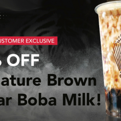 Tiger Sugar: Singtel Customers Enjoy 50% OFF Signature Brown Sugar Boba Milk!