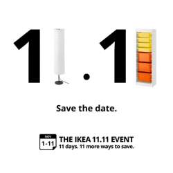 IKEA: 11.11 Event with 20% OFF Beds, Mattresses, Living Room Seating, Dining Tables & More!