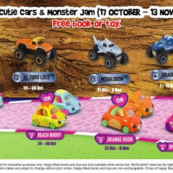McDonald's: FREE Cutie Cars & Monster Jam Toy with Every Happy Meal Purchased