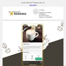 [Starbucks] Order and pay ahead, earn Stars and so much more 😎