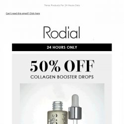 [RODIAL] Open For Your Exclusive 50% Off Code 💕