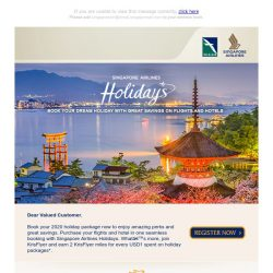 [Singapore Airlines] Great perks and amazing holiday package deals await