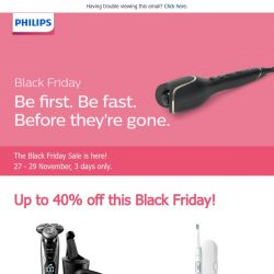 [PHILIPS] Black Friday is here - time go to shopping!