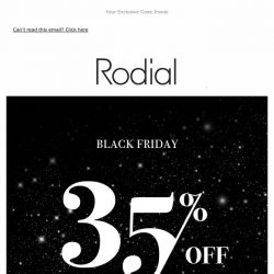 [RODIAL] Black Friday   35% Off 🖤