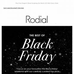 [RODIAL] Your Black Friday Favourites With 35% Off 🖤