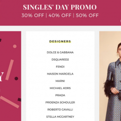 YOOX: Singles' Day Promo with Up to 50% OFF Celine, Prada, Gucci & More + Free Shipping to Singapore!
