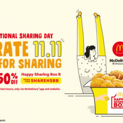 McDonald's: Enjoy 50% OFF Happy Sharing Box When You Order Delivery!