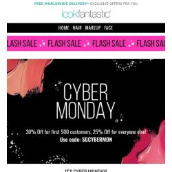 [lookfantastic] CYBER MONDAY... FULL OFFERS