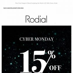 [RODIAL] Best. Monday. EVER - 15% Off Outlet 🔥