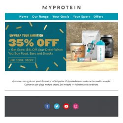 [MyProtein] Get More % Off With Snack Today!