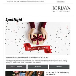 [Berjaya Hotels & Resorts EDm] Have a joyous year-end HO-HO holiday!