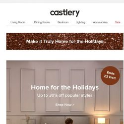 [Castlery] 'Tis the season for up to 30% off!
