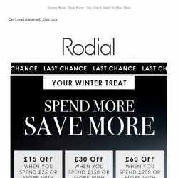 [RODIAL] Final Hours   £15, £30 & £60 Off 💕
