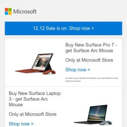[Microsoft Store] 12.12 Sale is on: Shop now