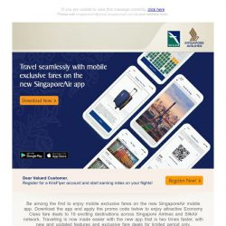 [Singapore Airlines] Enjoy app-exclusive fares to 19 exciting destinations