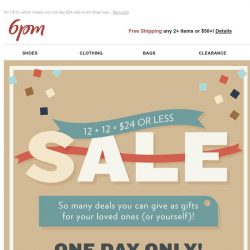 [6pm] Gifts for $24 or Less?! Yes, please!