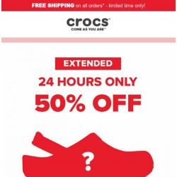 [Crocs Singapore] 【EXTENDED】 ✨Flash Sale✨ 50% OFF!