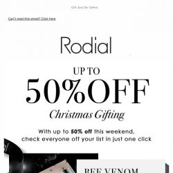 [RODIAL] Up To 50% Off... The Gift That Keeps On Giving