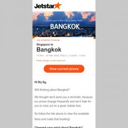 [Jetstar] Bangkok is only a few clicks away, Bq Sg!