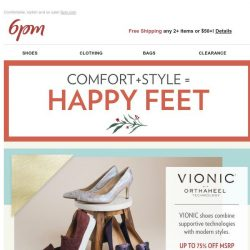 [6pm] Up to 75% off VIONIC, Rockport & More!