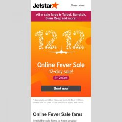 [Jetstar] ⏰ Only 5 days left! Don't miss amazing fares to 21 destinations.
