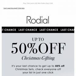 [RODIAL] Last Chance   Up To 50% Off Christmas 🎁