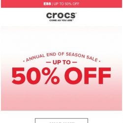 [Crocs Singapore] 2019 End of Season Sale! Up to 50% Off!