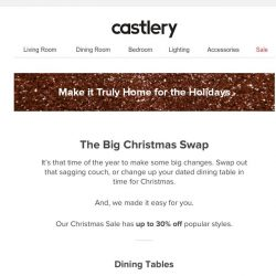 [Castlery] The Big Christmas Swap + Feel Our Leather