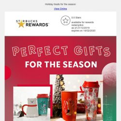 [Starbucks] Here's your last minute gift guide 🎁