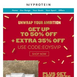 [MyProtein] Up To 50% Off + Extra 35% Off Inside! 🎁