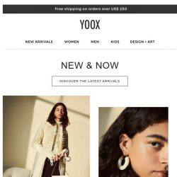 [Yoox] New & Now: Discover the latest arrivals