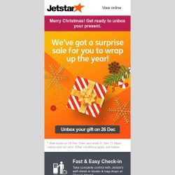 [Jetstar] 🎁 Get ready to unbox your surprise sale!