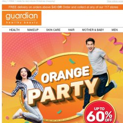 [Guardian] ✨ It's ORANGE PARTY time! Up to 60% OFF and WOW deals just for you!