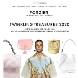 [Forzieri] 2020 Accessories to Sparkle in!