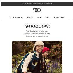 [Yoox] Only the best for the little ones: Dolce & Gabbana, Kenzo, Il Gufo and many more top brands