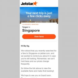 [Jetstar] Still looking at Singapore, Bq Sg?