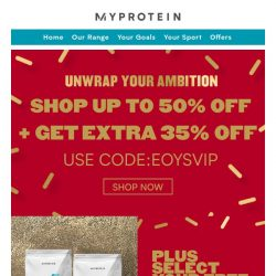 [MyProtein] Shop Our Year End Sale With Up To 50% Off!