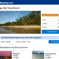 [Booking.com] Deals in Nai Yang Beach from S$ 22