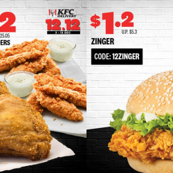 KFC: 12.12 Delivery Exclusive Deals with Up to 96% OFF!