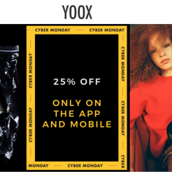 Yoox: Cyber Monday Sale with Additional 25% off Designer and Luxury Brands Like Burberry, Valentino, Balenciaga and more on App & Mobile!