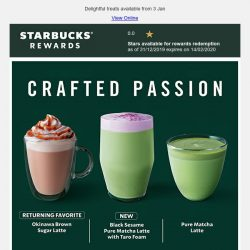 [Starbucks] New Japanese-inspired beverages, crafted just for you