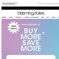 [Bloomingdales] Happy New Year! Take up to 30% off