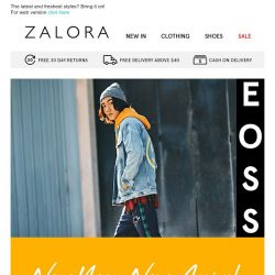 [Zalora] New Year, New Arrivals at 20% OFF!