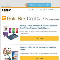 [Amazon] Save up to 35% on fitness & wellness products...
