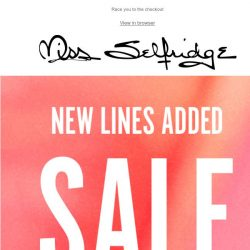 [Miss Selfridge] STAY CALM: New styles added to our sale 😆