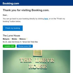 [Booking.com] The Lurve House – are you still interested in staying?
