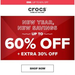 [Crocs Singapore] Up to 60% Off! + Extra 30% off!