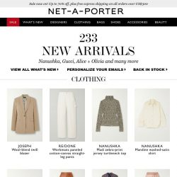 [NET-A-PORTER] , stop what you're doing — today's What's New has arrived
