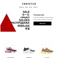 [Farfetch] The sneakers you need to buy before the Sale's over